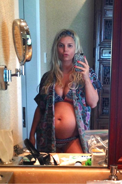 Celebrity baby bump watch