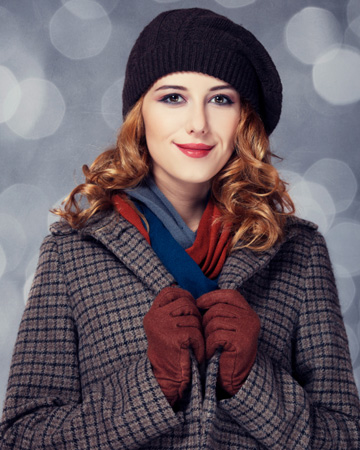 Pretty woman in the winter