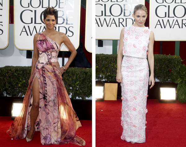 Halle Berry and Sienna Miller at the 2013 Golden Globes