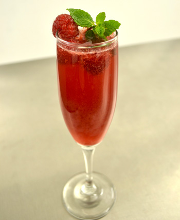 Raspberry Mint Rosé Bellini