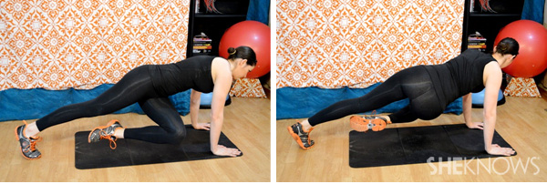 Plank with a twist 1