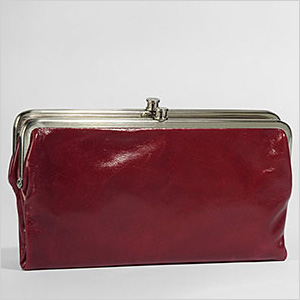 Lauren Vintage Clutch in Flame by Hobo International