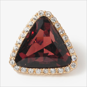 Faux Gem Triangle Studs by Forever 21
