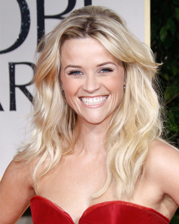 Reese Witherspoon's beachy waves from the 2012 Golden Globes