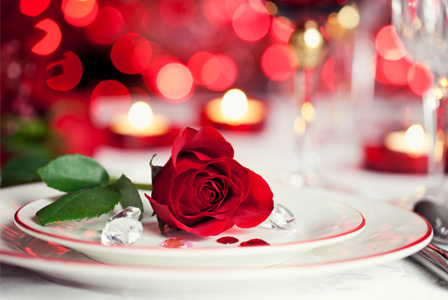 Romantic Valentine's Day placesetting