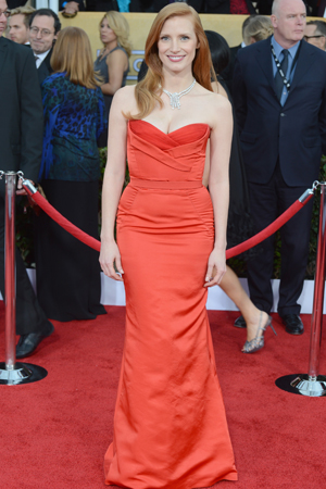 Jessica Chastain at the 2013 SAG Awards