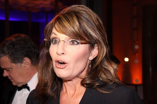 Sarah Palin looks surprised.