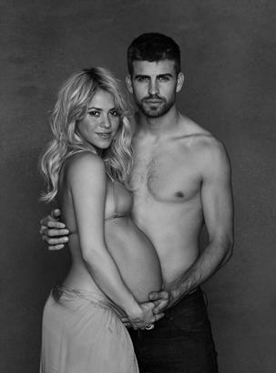 Pregnant Shakira and Gerard Pique