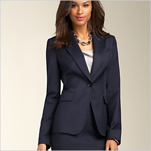 Pinstripe Pickstiched Jacket from Talbots
