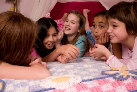 Help your child enjoy a slumber party