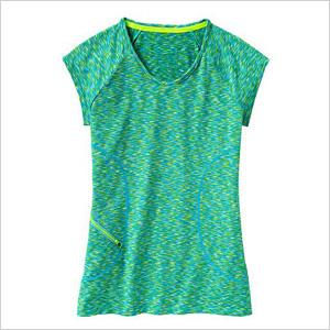 vibrant turquoise crew neck T-shirt