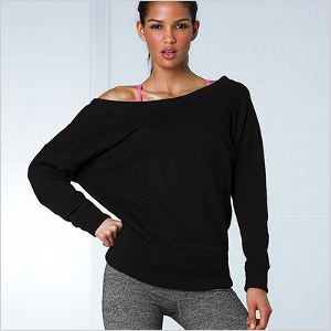 Scoop back sweatshirt