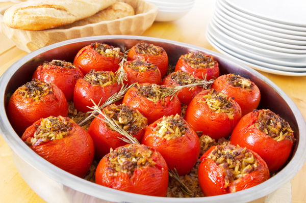 Stuffed tomato poppers