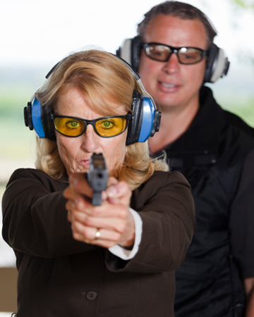 Teacher at the shooting range