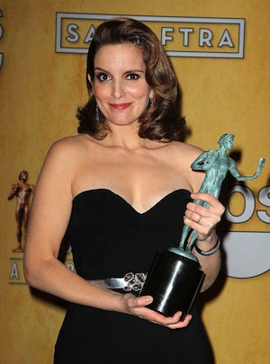 Tina Fey wins at the 2013 SAG Awards.
