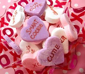 valentine's day conversation hearts