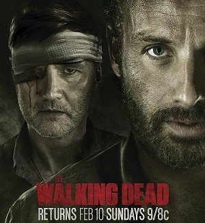 Walking Dead returns, eye patch in place