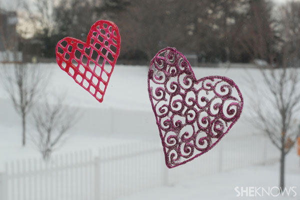 Heart window clings