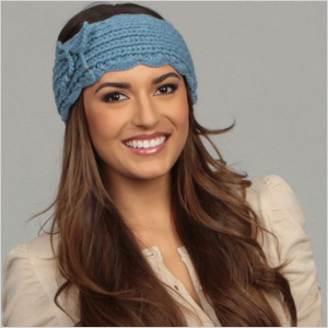 Knitted blue headband