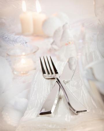 White winter tablescape