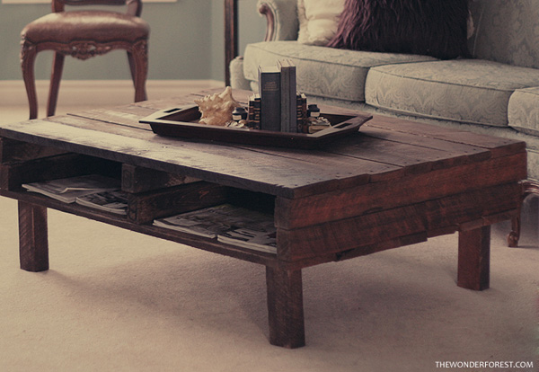 wonder forest pallet coffee table