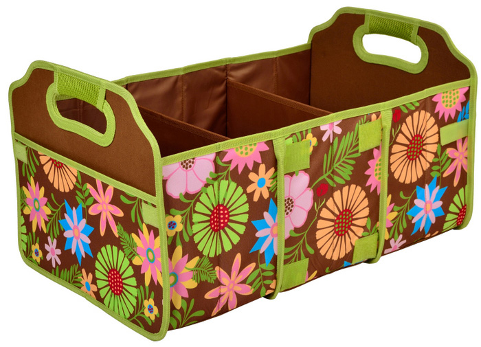 3-section foldable trunk organizer from Brookstone