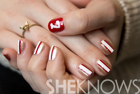 San Francisco 49ers nail art design