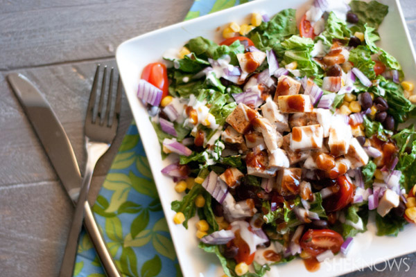 Healthy BBQ Chicken salad