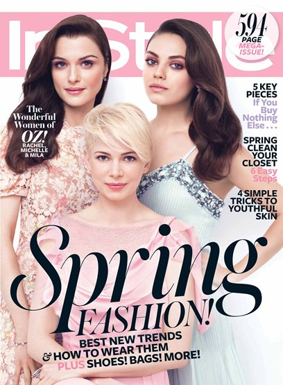 InStyle March 2013 magazine cover