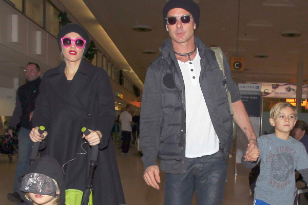 Gwen Stefani with husband Gavin Rossdale and sons Kingston and Zuma