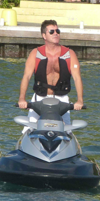 Simon Cowell jetskiing in St. Barts