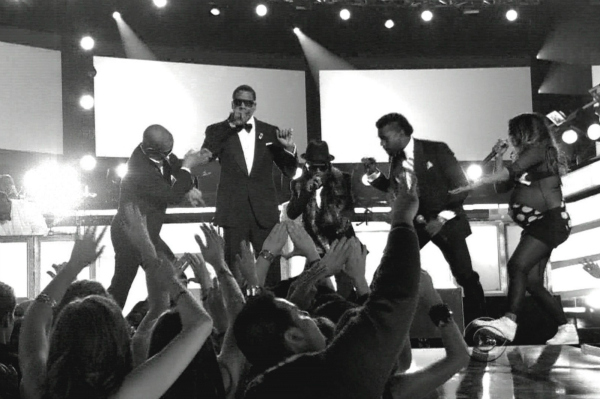 Jay-Z Performing at the 51st Annual Grammy Awards