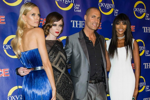 Karolina Kurkova, Coco Rocha, Nigel Barker, and Naomi Campbell