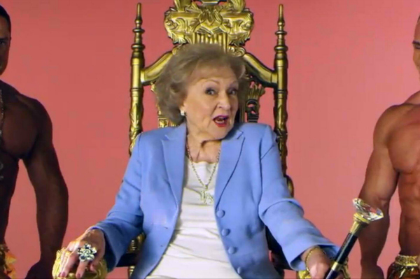 Betty White in a Rap Video