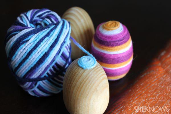 Yarn eggs