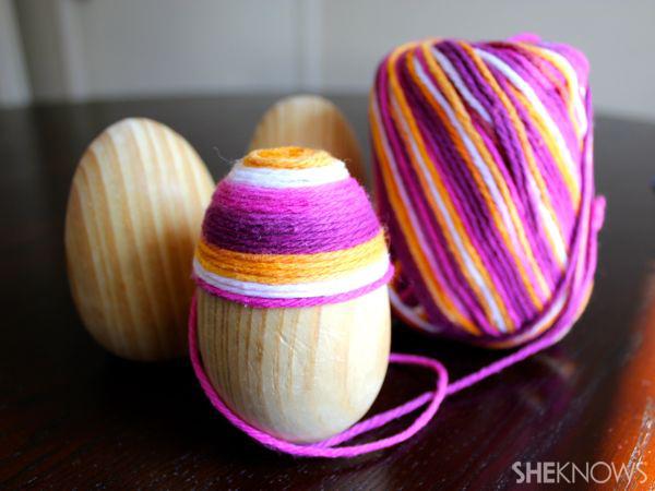 Yarn Easter eggs
