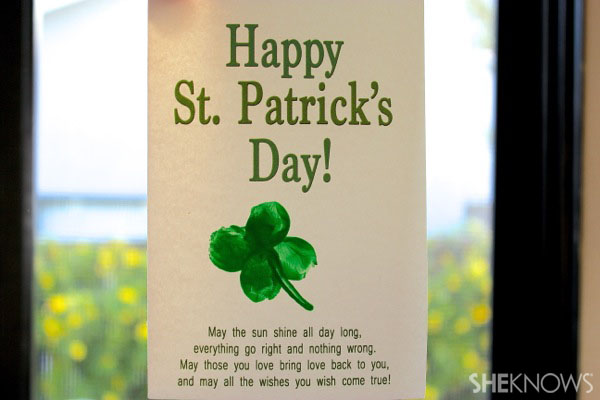 Thumbprint St. Patrick's Day card