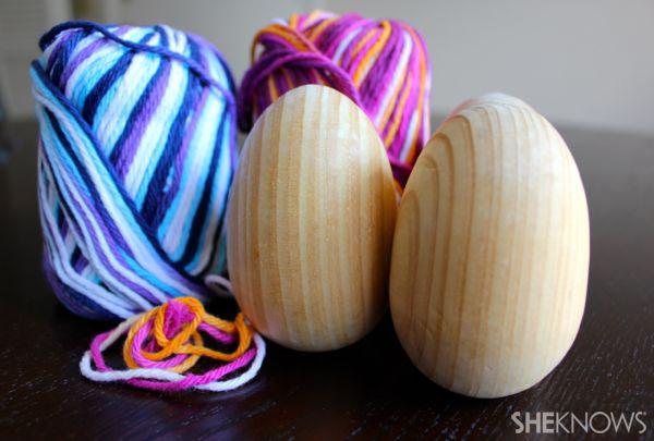 Yarn egg supplies