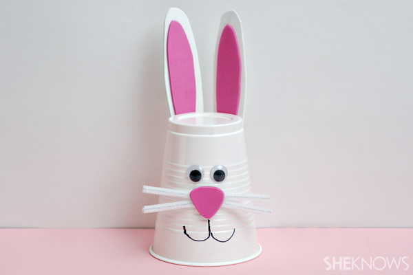 Bunny cup - Easter craft