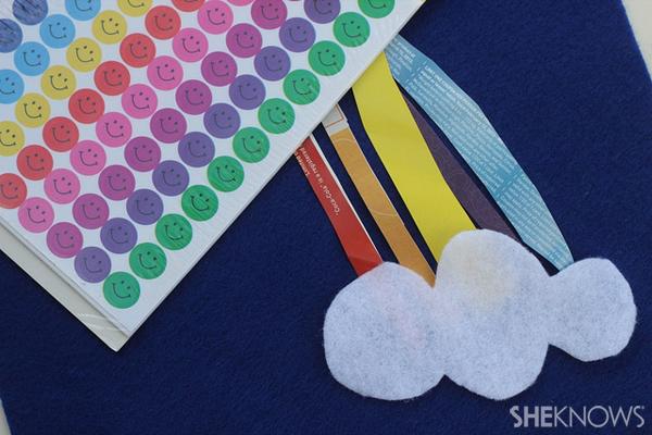 Leprechaun rainbow stickers