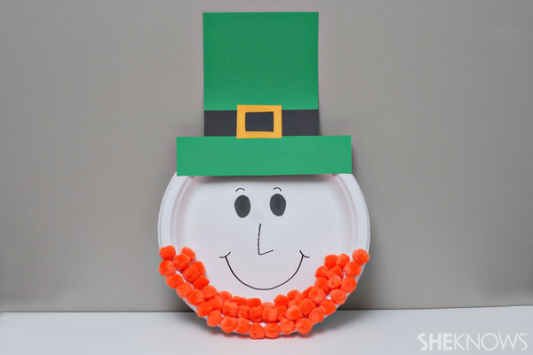 Leprechaun paper plate faces