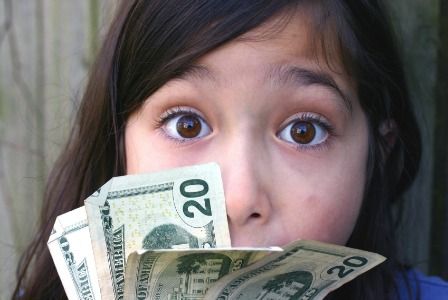 Tween with cash