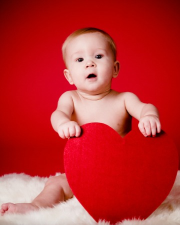 Valentine's party idea for mommies and babies