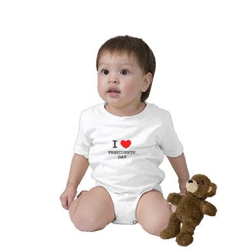 Presidents' Day baby shirt