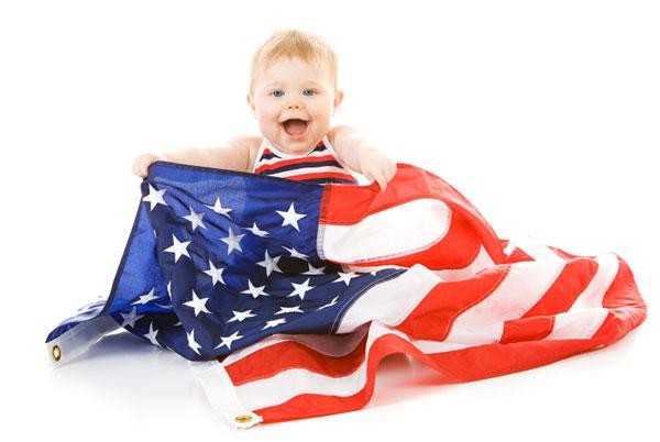 Baby celebrating President's Day