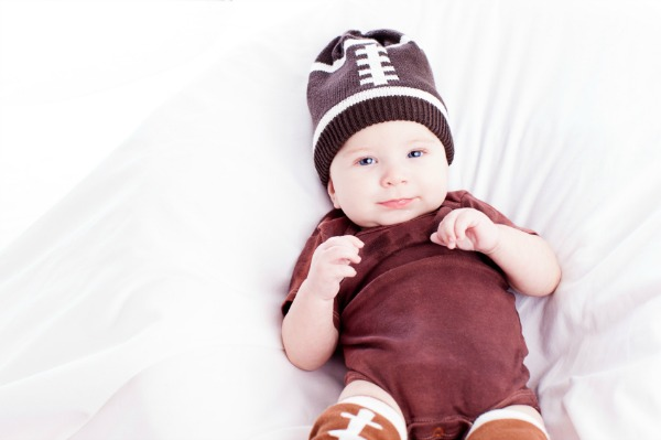 Baby football gear