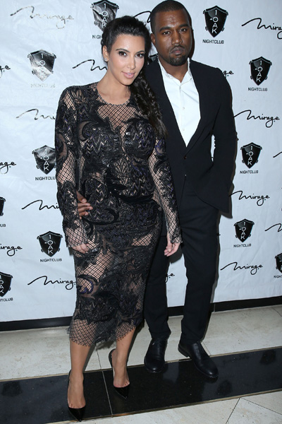 Pregnant Kim Kardashian and Kanye West