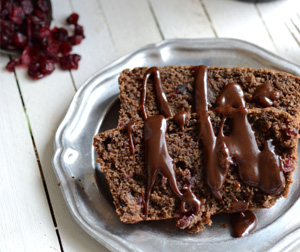 Chocolate cherry guiness bread