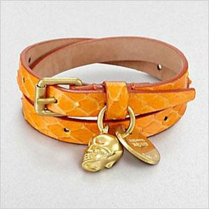 McQueen leather bracelet