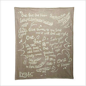 one love one heart blanket